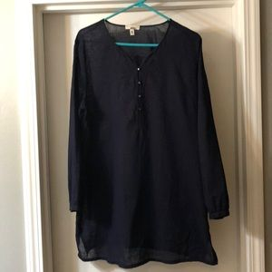 J Crew Navy Blue Tunic